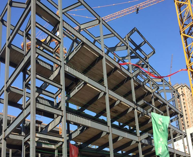 Multi storey school building steel frame
